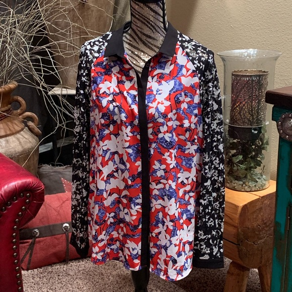 Peter Pilotto for Target Tops - Nwot floral button down